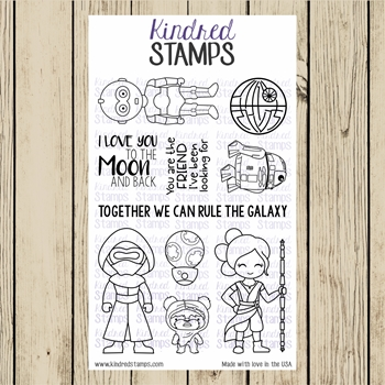Kindred Stamps GALACTIC ADVENTURES THE SEQUEL Clear Stamp Set ks1347