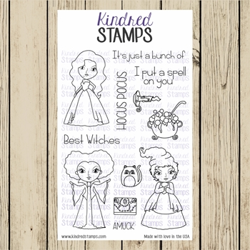 Kindred Stamps WITCH SISTERS Clear Stamp Set ks1139