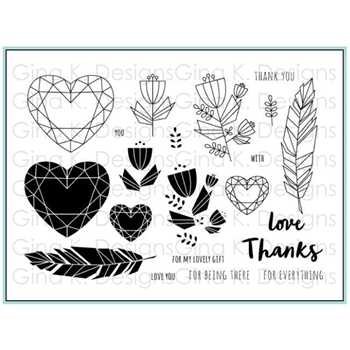 Gina K Designs GEO THANKS Clear Stamps 5553
