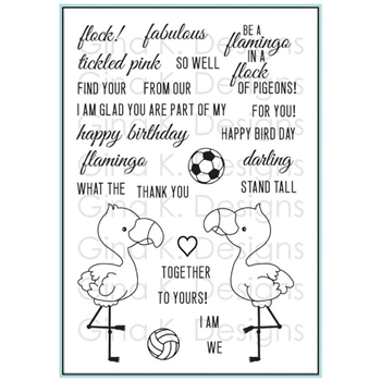 Gina K Designs EMMY AND RILEY FLAMINGOS Clear Stamps 5539