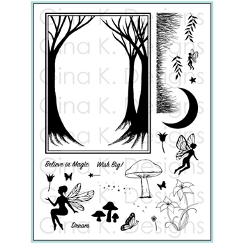 Gina K Designs ENCHANTED FOREST Clear Stamps 5546