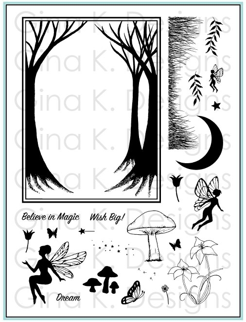 Gina K Designs ENCHANTED FOREST Clear Stamps 5546 zoom image