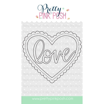 Pretty Pink Posh LOVE SHAKER Die