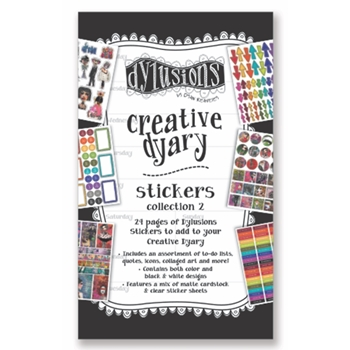 Ranger Dylusions CREATIVE DYARY STICKERS BOOK 2 Dyan Reaveley dye60123