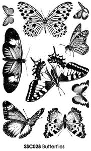Stampendous Clear Stamps BUTTERFLIES Butterfly ssc028 Preview Image