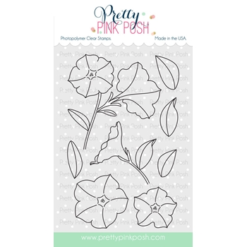 Pretty Pink Posh PRETTY PETUNIAS Clear Stamp Set