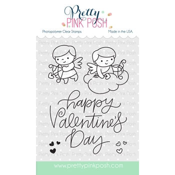 Pretty Pink Posh CUPID FRIENDS Clear Stamp Set