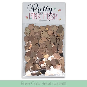 Pretty Pink Posh ROSE GOLD HEARTS Confetti