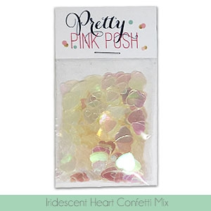 Pretty Pink Posh IRIDESCENT HEARTS Confetti Mix