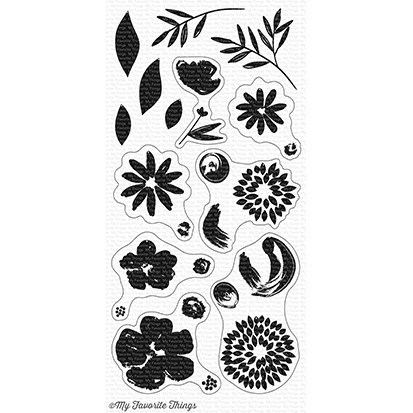 My Favorite Things BRUSHSTROKE BLOOMS Clear Stamps CS256 zoom image