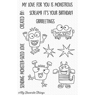 My Favorite Things MONSTER SIZED Clear Stamps CS262