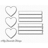 My Favorite Things VERTICAL HEARTS IN A ROW Die-Namics MFT1246 Preview Image