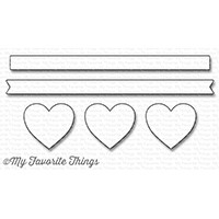 My Favorite Things HORIZONTAL HEARTS IN A ROW Die-Namics MFT1247