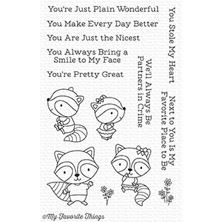 My Favorite Things RAVING RACOONS Clear Stamps CS257