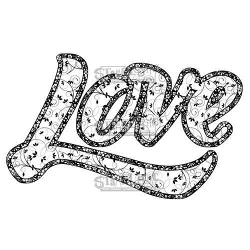 Stamplistic Cling Stamp LOVE Rubber UM j180101 Preview Image