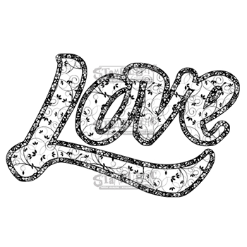 Stamplistic Cling Stamp LOVE Rubber UM j180101