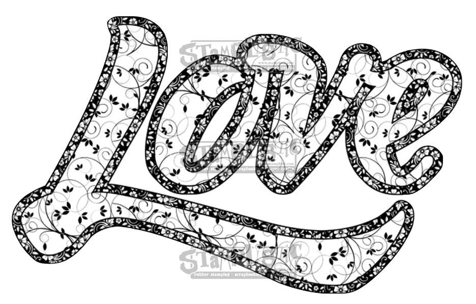 Stamplistic Cling Stamp LOVE Rubber UM j180101 zoom image