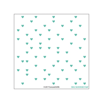 Concord & 9th HEART TURNABOUT Clear Stamp Set 10313