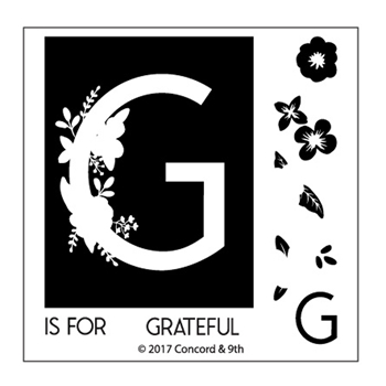 Concord & 9th MONOGRAM G Clear Stamp Set 10322*
