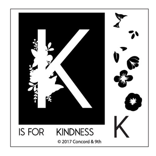 Concord & 9th MONOGRAM K Clear Stamp Set 10326* Preview Image