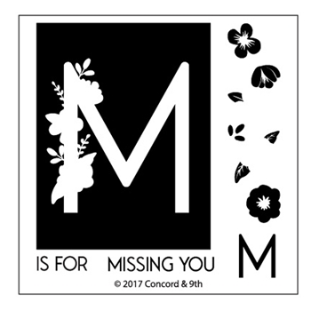 Concord & 9th MONOGRAM M Clear Stamp Set 10328