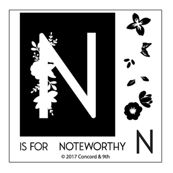Concord & 9th MONOGRAM N Clear Stamp Set 10329