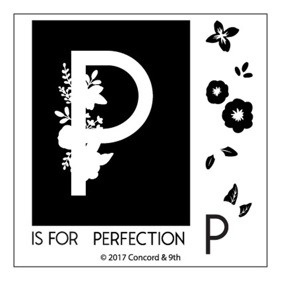 Concord & 9th MONOGRAM P Clear Stamp Set 10331 zoom image