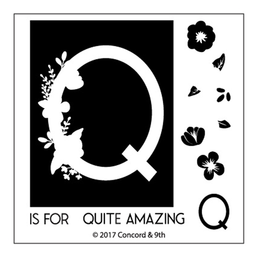 Concord & 9th MONOGRAM Q Clear Stamp Set 10332* Preview Image