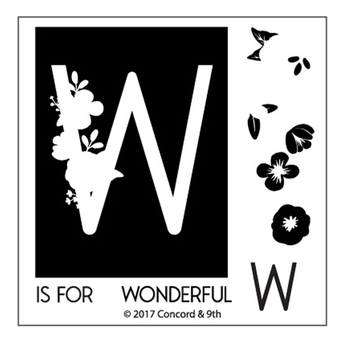 Concord & 9th MONOGRAM W Clear Stamp Set 10338* Preview Image