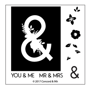 Concord & 9th MONOGRAM & Clear Stamp Set 10342