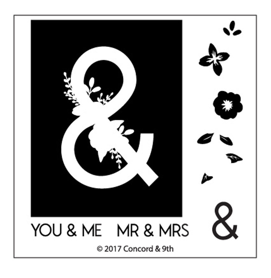 Concord & 9th MONOGRAM & Clear Stamp Set 10342* zoom image