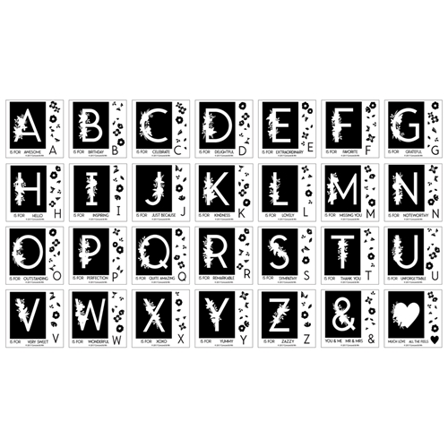 Concord & 9th MONOGRAM COLLECTION Clear Stamp Set 10350 Preview Image