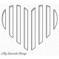 My Favorite Things PEEK A BOO STRIPED HEART Die-Namics MFT1241