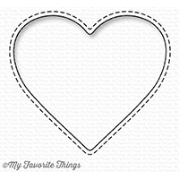 My Favorite Things STITCHED HEART PEEK A BOO WINDOW Die-Namics MFT1230 zoom image