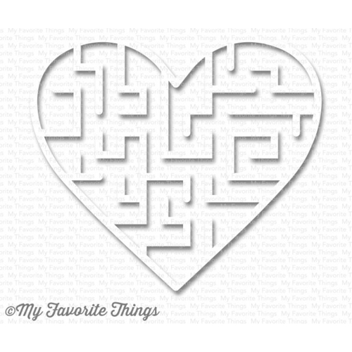 My Favorite Things WHITE Heart Maze Shapes 3587 Preview Image