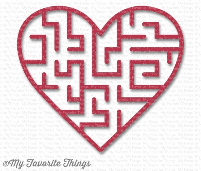My Favorite Things WILD CHERRY Heart Maze Shapes 3594 zoom image