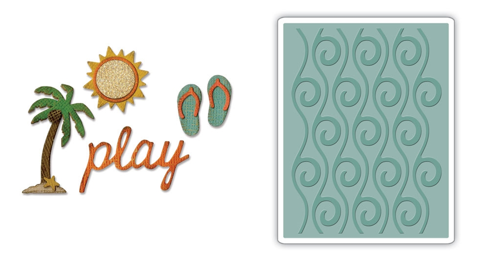 Tim Holtz Beach Side Order Die and Embossing Folder Set