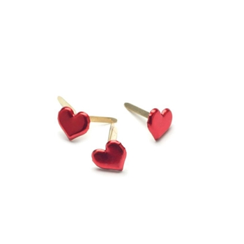 Creative Impressions METALLIC RED HEART BRADS Painted Metal Paper Fasteners 90315