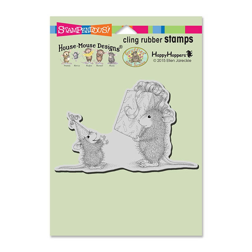 Stampendous House Mouse Birthday Gift Cling Stamp