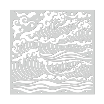 Hero Arts Stencil MERMAID WAVES SA110