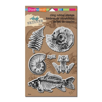 Stampendous Cling Stamp FOSSILS Rubber UM ascrs11