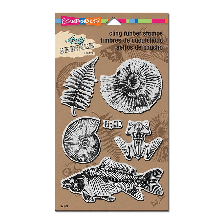 Stampendous Cling Stamp FOSSILS Rubber UM ascrs11 zoom image