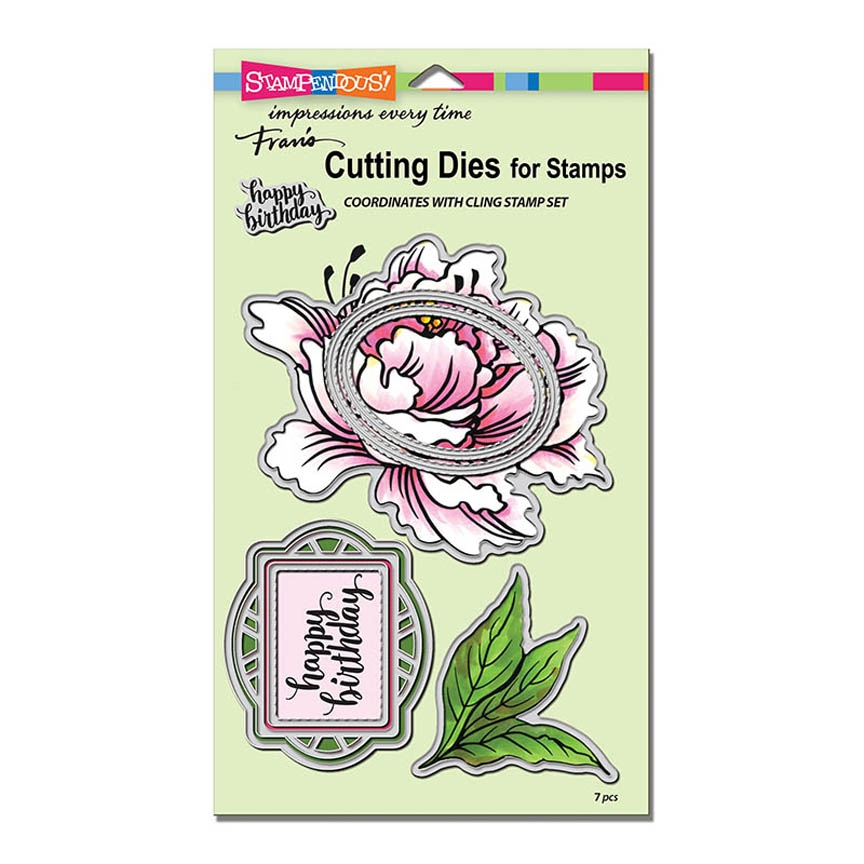 Stampendous FRESH PEONY DIE CUT SET dcs5103 zoom image