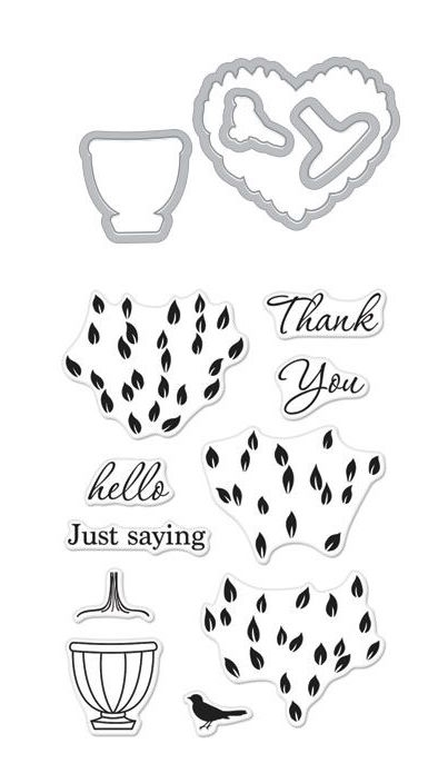 Hero Arts Stamp and Cuts LAYERED TOPIARY Set DC224* zoom image