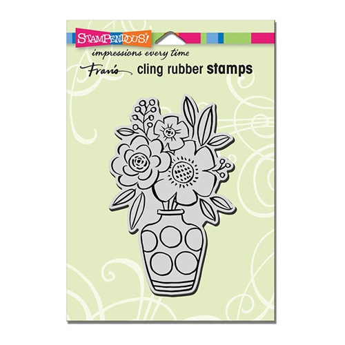 Stampendous Cling Stamp BLOSSOM VASE Rubber UM crp318 Preview Image