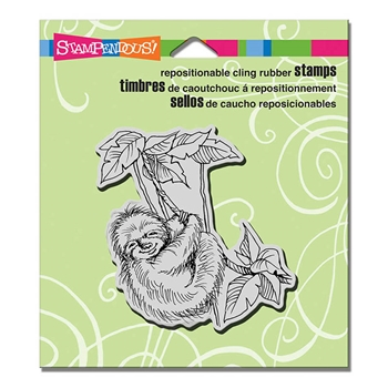 Stampendous Cling Stamp SLOTH SWING Rubber UM crq234