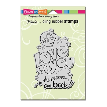Stampendous Cling Stamp GREAT BIG LOVE Rubber UM crp317