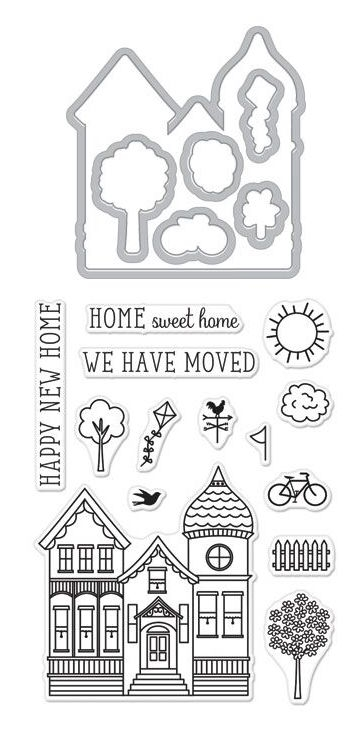Hero Arts Stamp and Cuts HOUSE Set DC225 zoom image