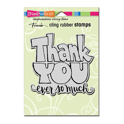 Stampendous Cling Stamp GREAT BIG THANKS Rubber UM crw200 Preview Image
