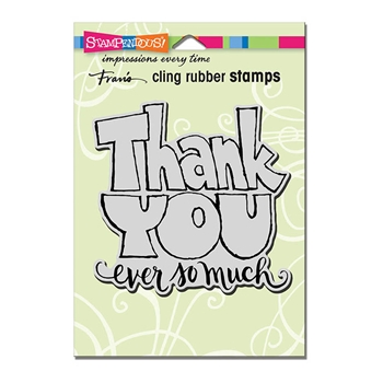 Stampendous Cling Stamp GREAT BIG THANKS Rubber UM crw200